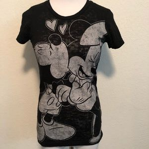 Burn out Mickey & Minnie Tee